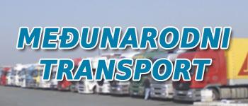 Međunarodni prevoz, zbirni transport robe, organizacija prevoza za sve destinacije.